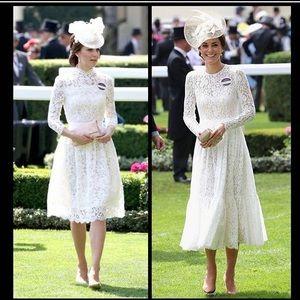Dolce Vita sweatheart dress with lace overlay